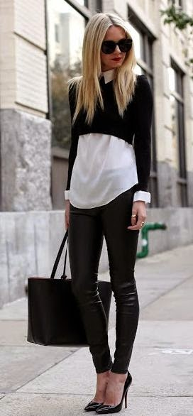 71f8d9f31949a You could totally pull off this look by wearing a crop sweater with a  buttoned down shirt underneath and you won t have to worry about exposing  your skin.